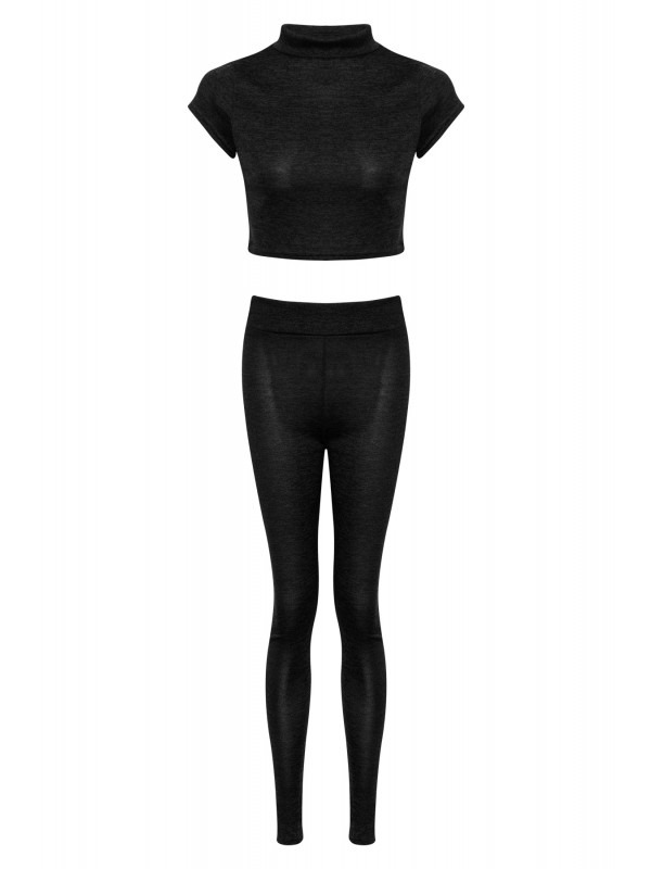Crop Top And Jogger Bottom Lounge Suit