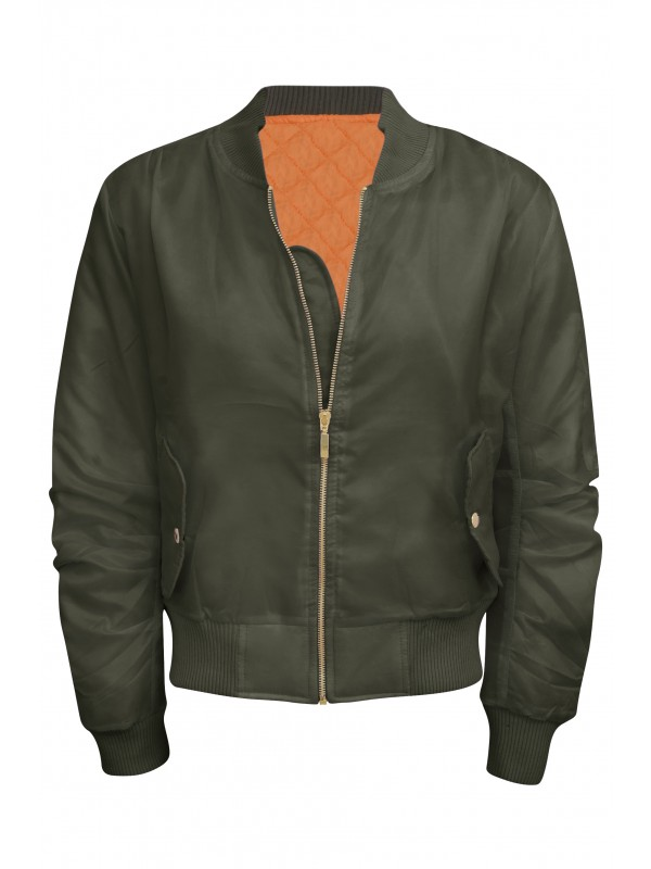New Colours Celeb Inspired Classic Padded Bomber Jacket