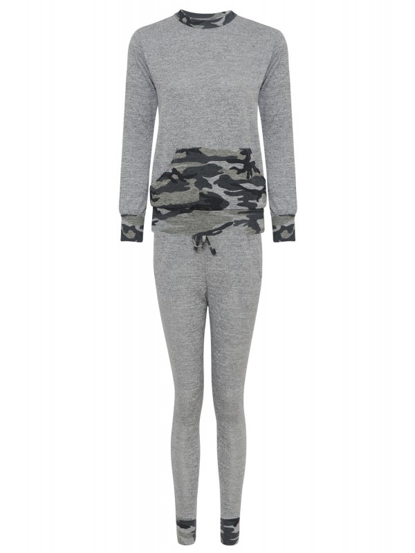 Camouflage Tracksuit Lounge Wear Set