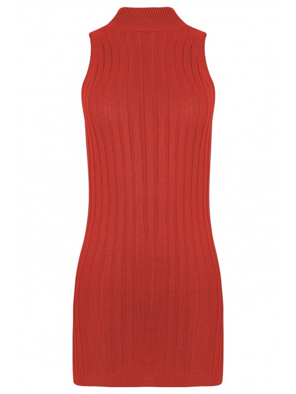Knitted Ribbed Bodycon Dress