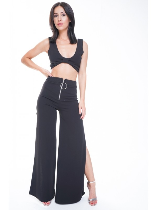 Crop Top & Split Trouser Co-ord
