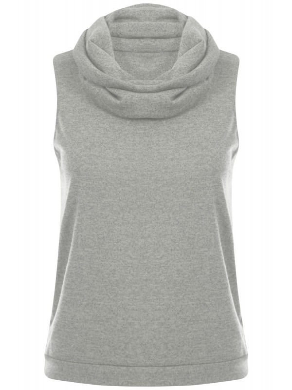 Woven Fabric Cowl Neck Top