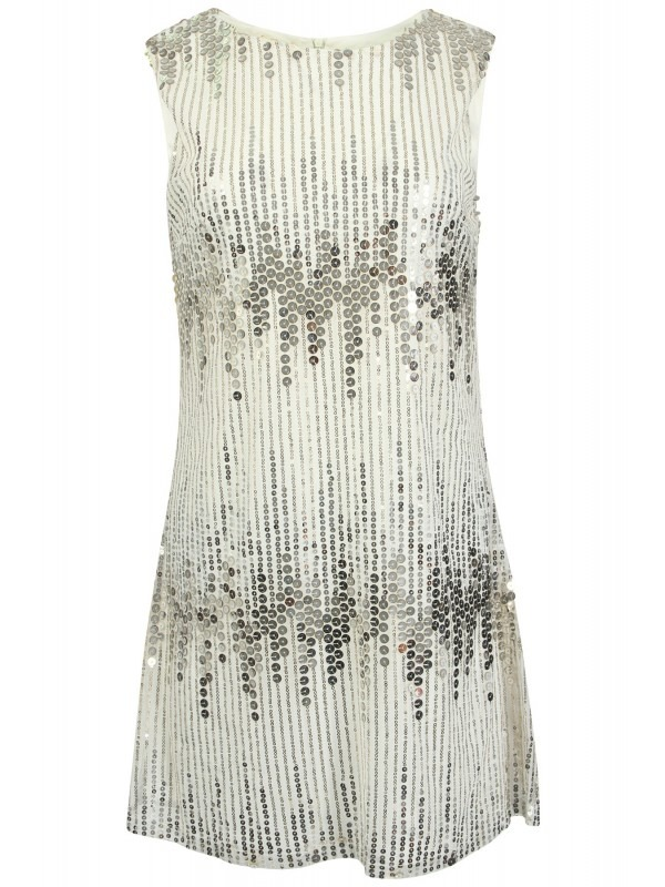 Fit & Flare Lined Sequin Dress