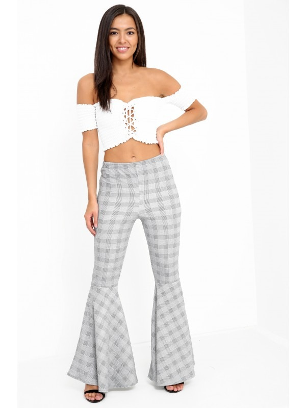 Extreme Flare Tartan Trousers