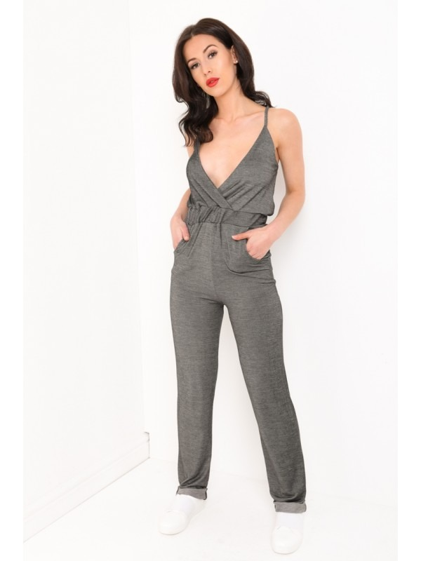 Denim Look Cami Jumpsuit