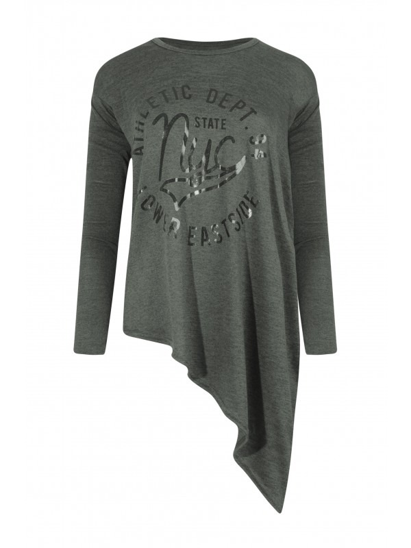 Athletic NYC State Long Sleeve Asymmetrical Top