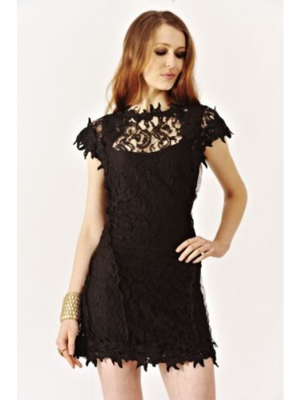 Crochet Knitted Bodycon Dress