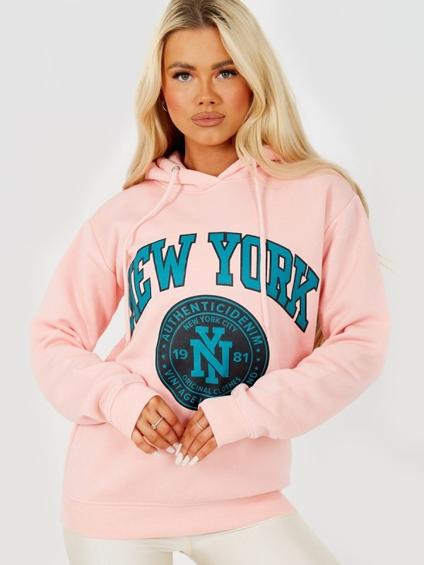 New York Graphic Fleece Hoodie