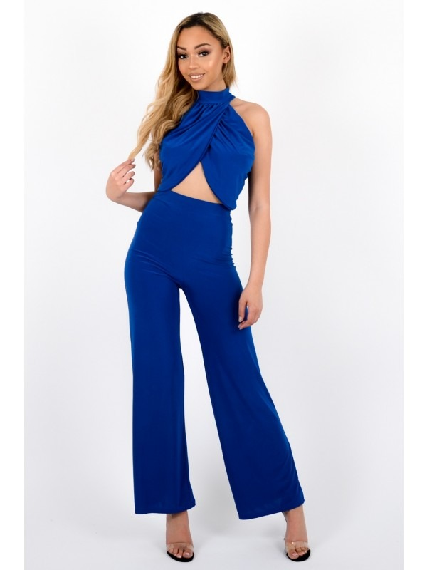 Slinky Wrap Crop Top & Trouser Co-ord