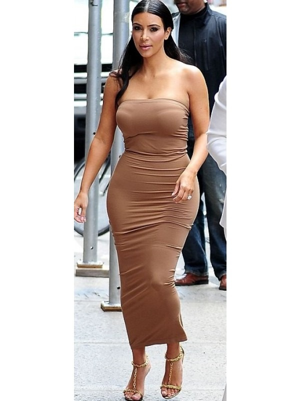 Celeb Kim Inspired Slinky Clinging Dress
