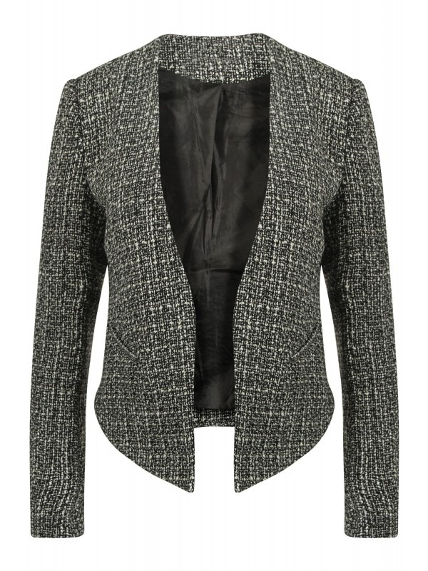 Fully Lined Waffle Knit Tailored Blazer