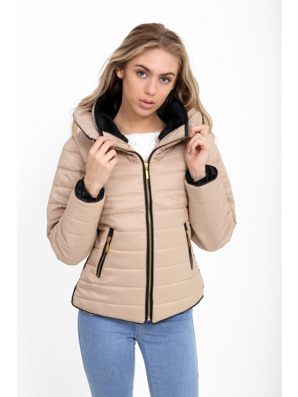 Plus Size Quilted Padded Puffer Bubble Jacket