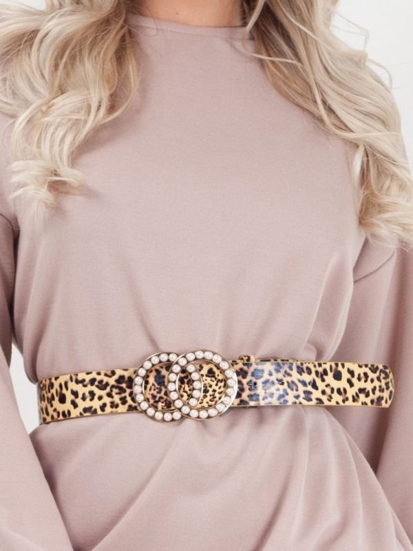 Pearl Double Circle Buckle Belt