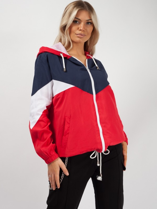 Contrast Colour Block Festival Jacket
