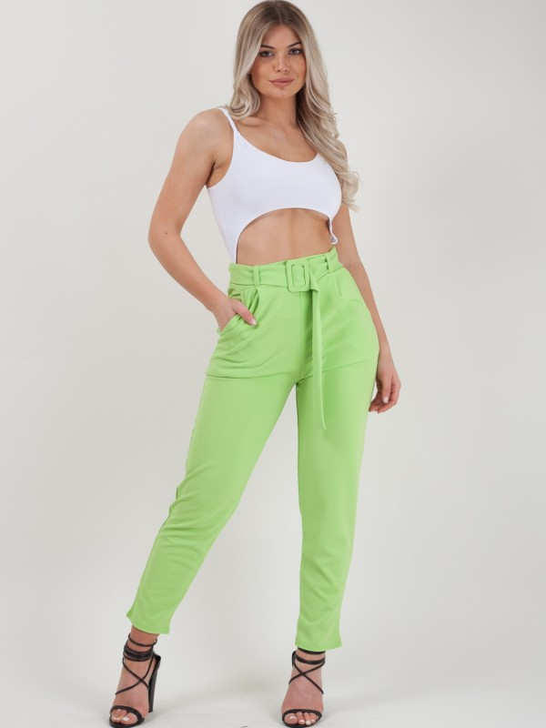 Rosie Matching Buckle Belted Trousers