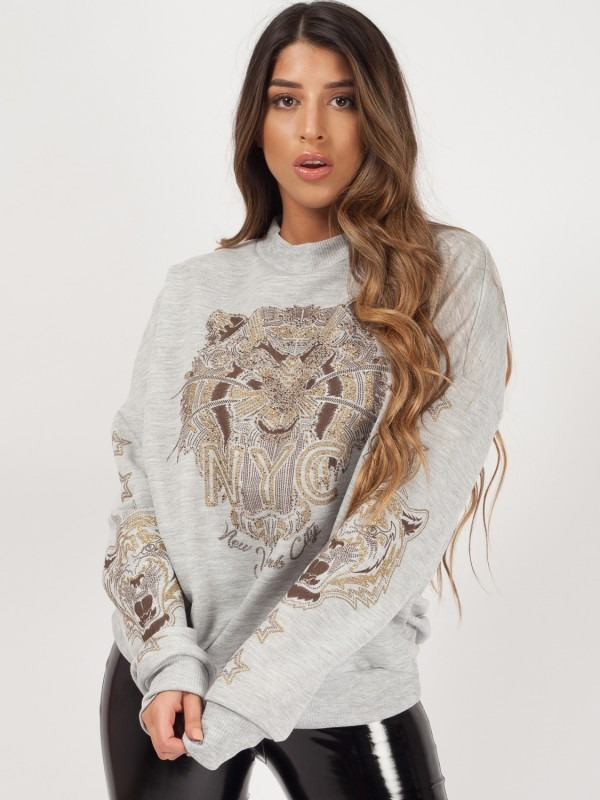 Tiger Printed Sweatshirt Jumper