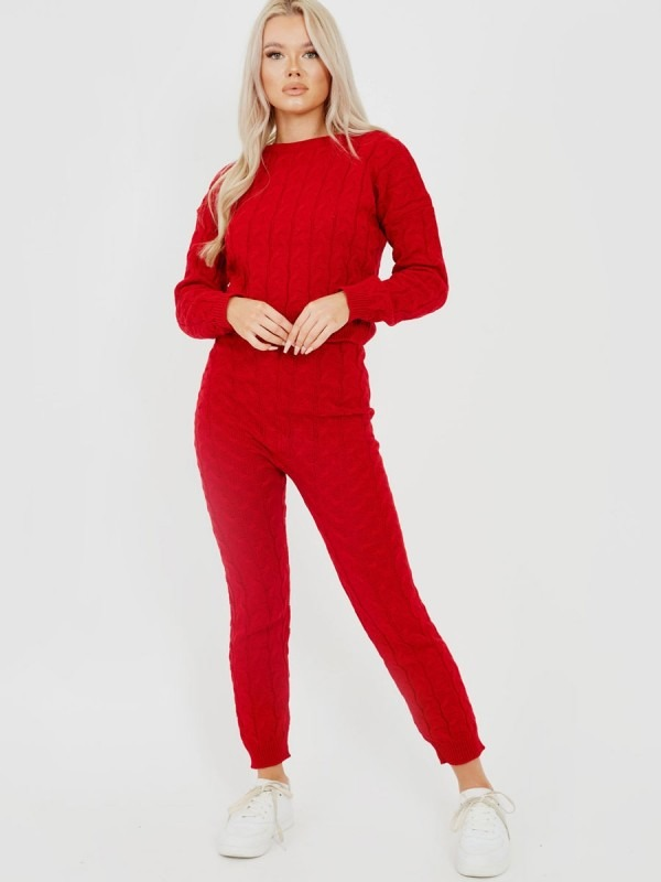 Cable Knit Top & Bottom Co-ord