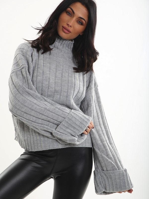 Olivia & Kady Turtle Neck Knitted Jumper