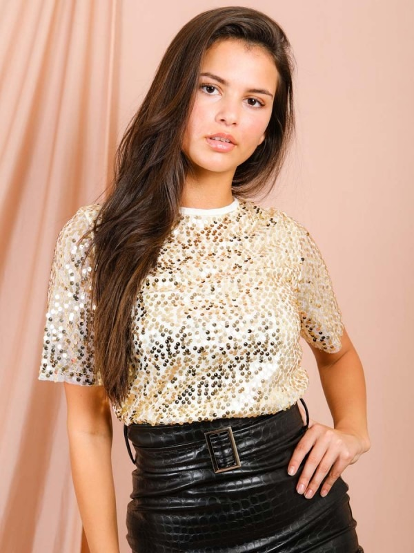 Sequinned Mesh Top
