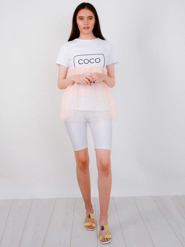 Coco Love Mesh Layered T-Shirt