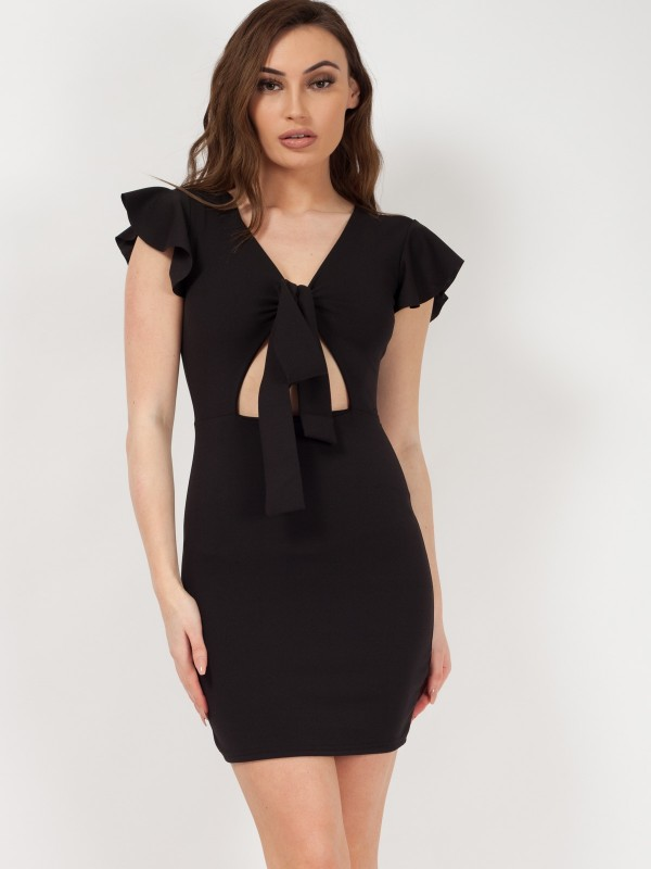 Knot Front Bodycon Dress