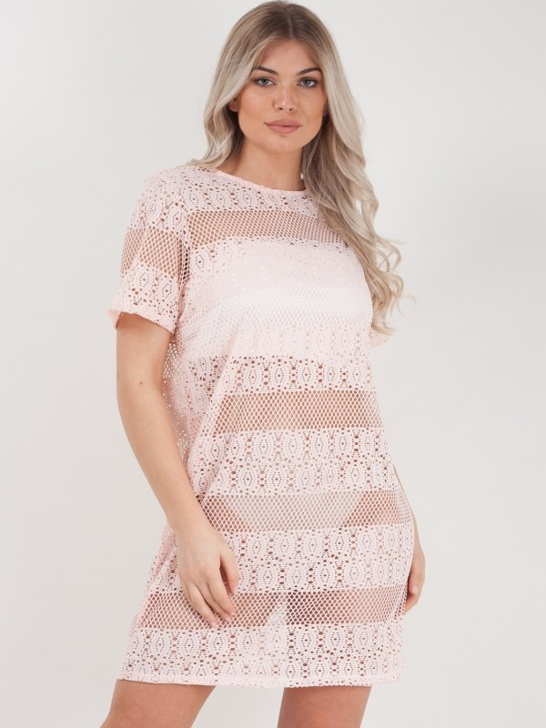 Crochet Knit Shift Dress