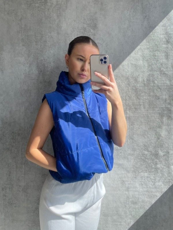Padded Cropped Gilet