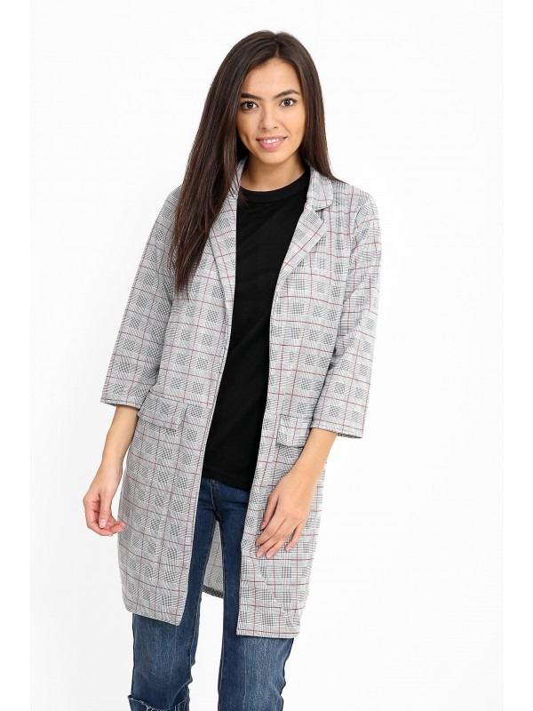 Red Check Duster Coat