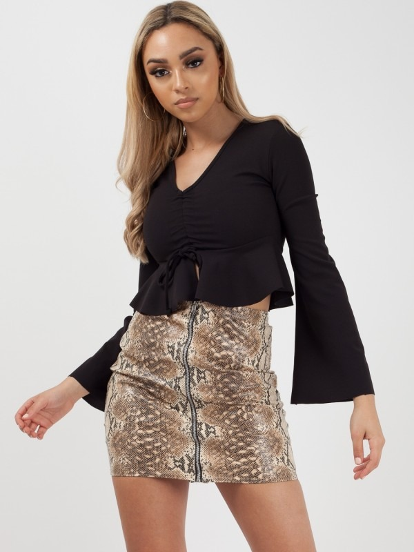 Drawstring Peplum Top