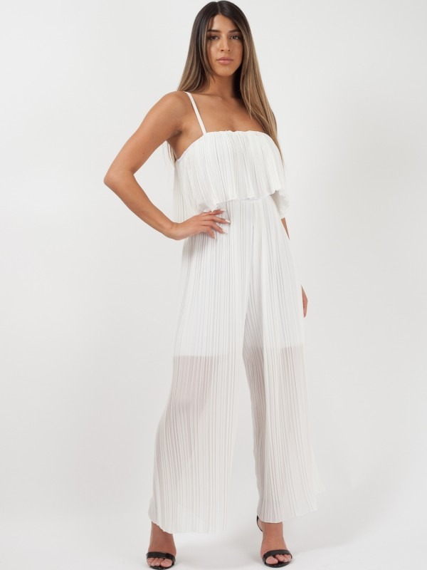 Pleated Frill Cami Jumpsuit