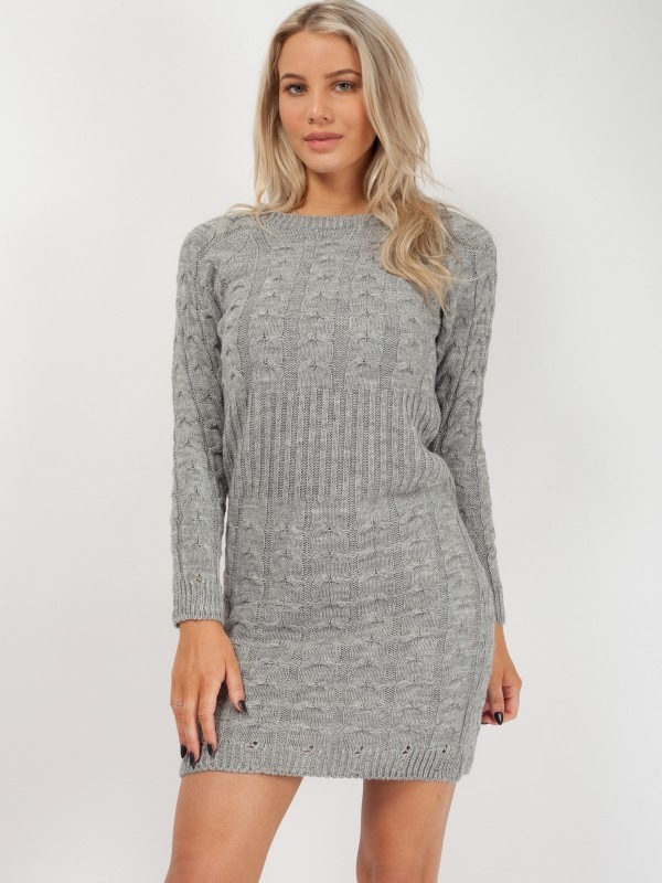 Cable Knit Panel Knitted Dress