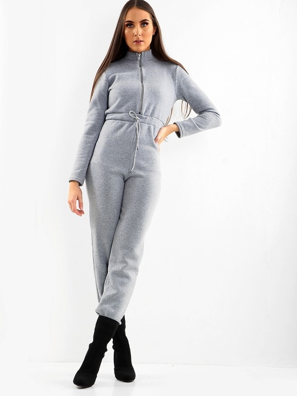 Kady Zip Front Fleece Jumpsuit