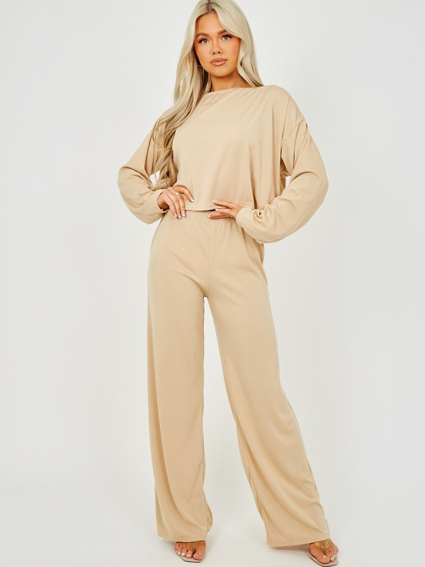 Off Shoulder Ribbed Co-ord