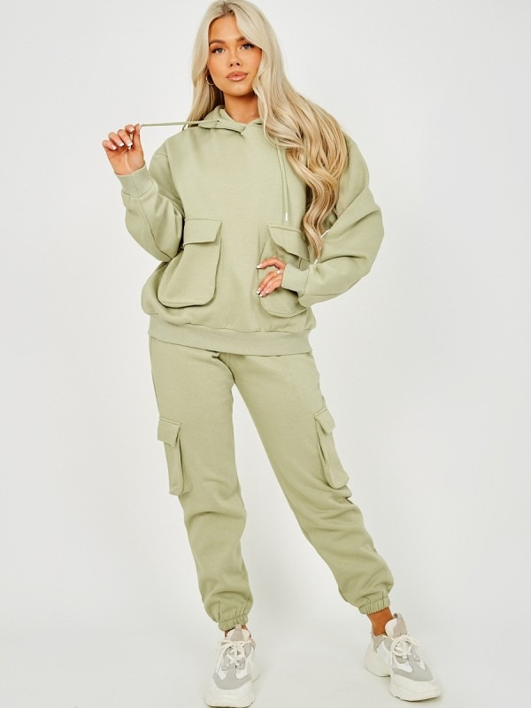 Utility Pocket Hooded Top & Trouser Fleece Co-ord