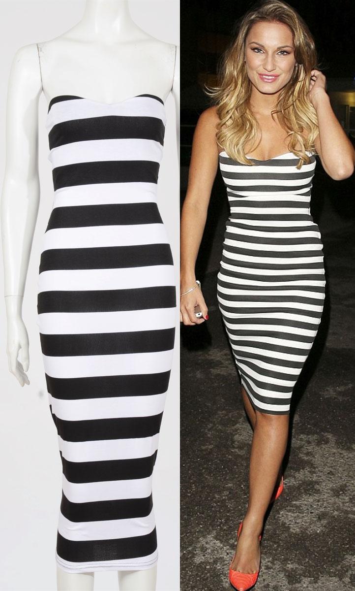 Womens wholesale celebrity sam inspired stripe boobtube for Celebrity t shirts wholesale